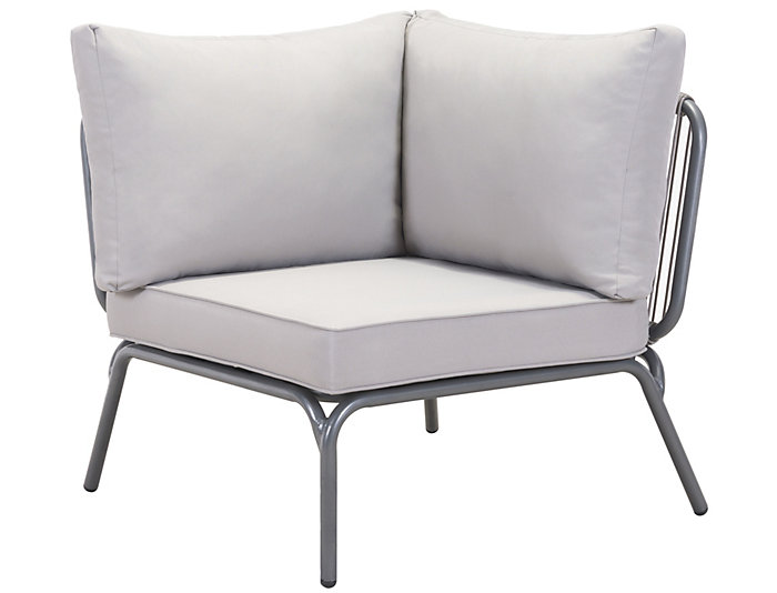 ... Pier Corner Chair, Grey, , Large ...