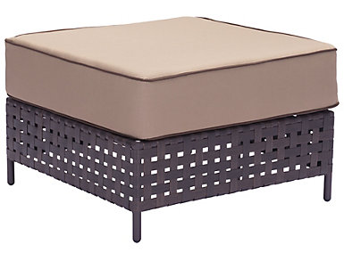 Pinery Cushioned Ottoman, Beige, , large