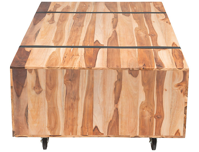 River Coffee Table, Brown, , large