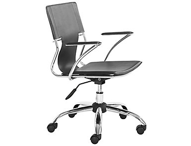 Trafico Black Office Chair, , large