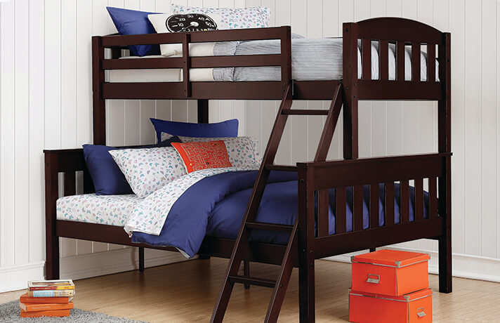 Airlie Twin/Full Brown Bunkbed