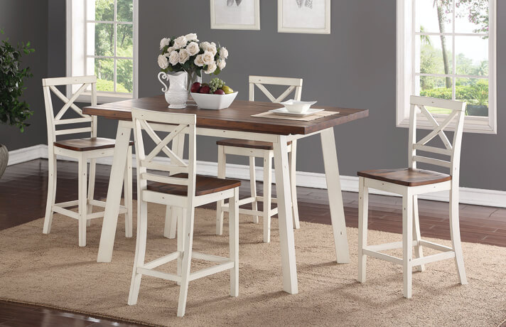 Amelia Counter Table & 4 Stools