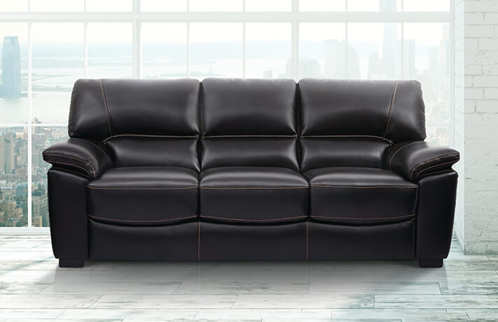 Andre 85 Inch Leather Sofa