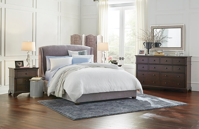 FUSE Amigo Granite Queen Upholstered Bed