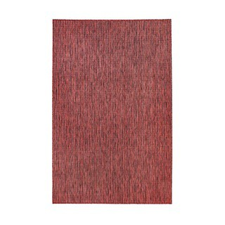 Carmel Red Textured Rug