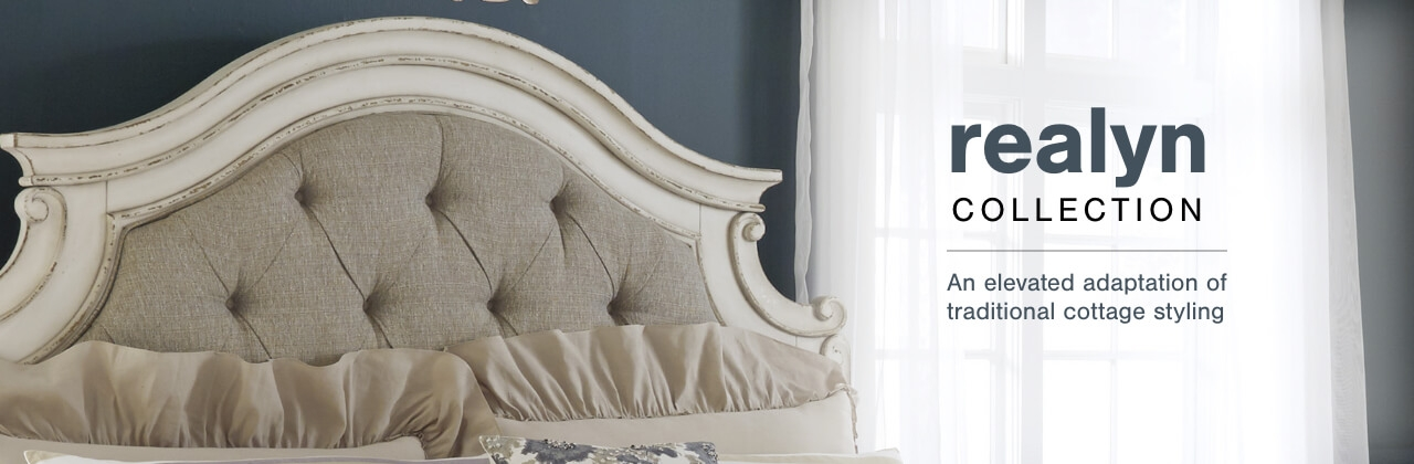 A Plus Content -  https://s7d3.scene7.com/is/image/AshleyFurniture/CollectionA%2BBanner%5FRealyn%5FBedroom?scl=1