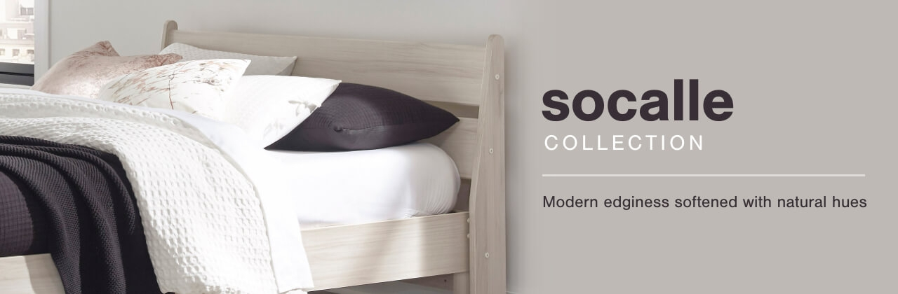 A Plus Content -  https://s7d3.scene7.com/is/image/AshleyFurniture/CollectionA%2BBanner%5FSocalle%5FBedroom?scl=1