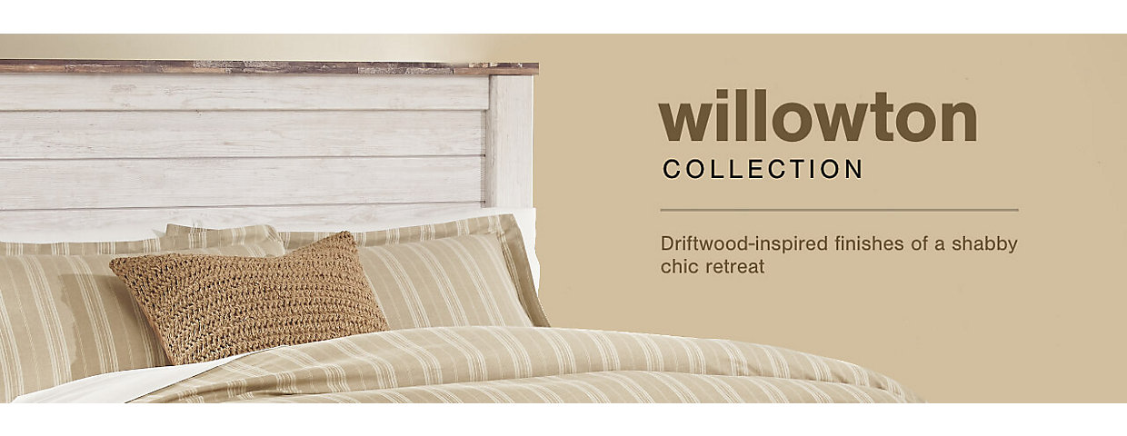 A Plus Content -  https://s7d3.scene7.com/is/image/AshleyFurniture/CollectionA%2BBanner%5FWillowton%5FBedroom?$A%2DPlus%2DContent$
