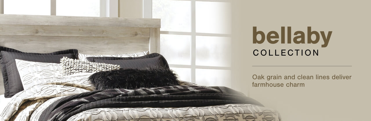 A Plus Content -  https://s7d3.scene7.com/is/image/AshleyFurniture/CollectionA%2BBanner%5Fbellaby%5FBedroom?scl=1
