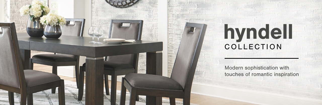 A Plus Content -  https://s7d3.scene7.com/is/image/AshleyFurniture/CollectionABanner%5FHyndell%5FDining?scl=1