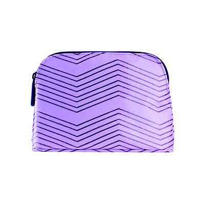 Medium Purple Print Domed Bag