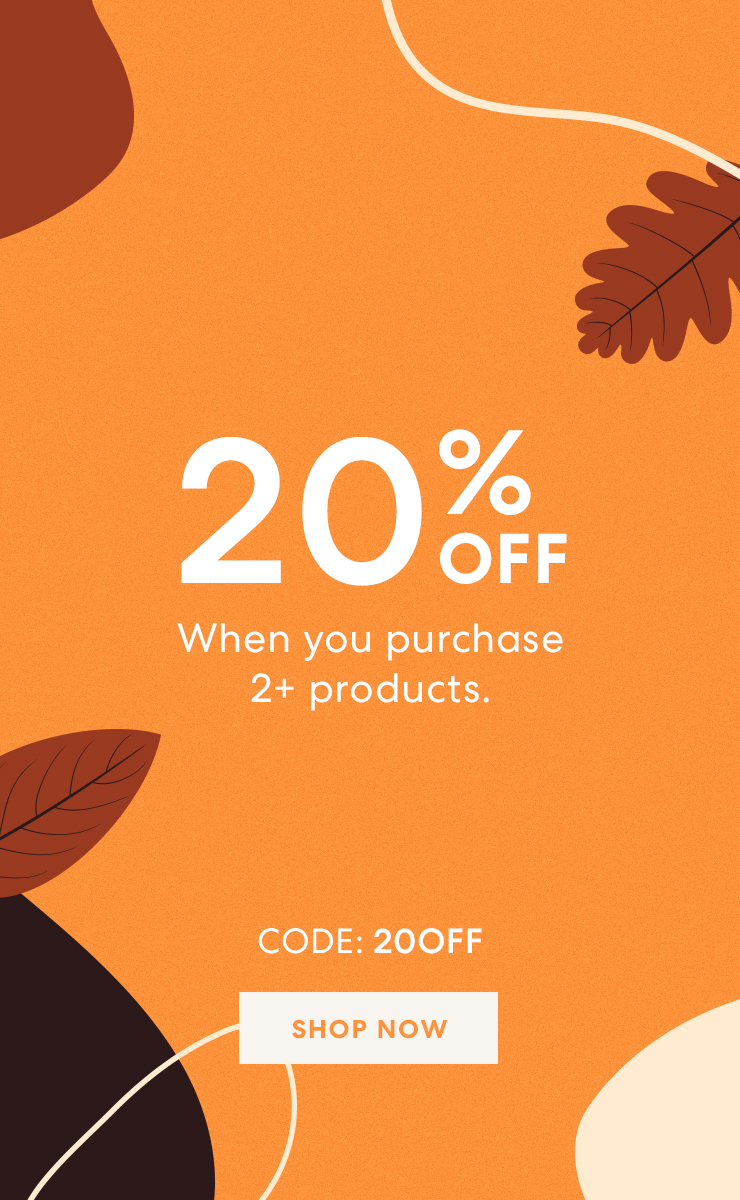 20% off when you spend 50. CODE:20off