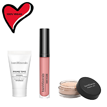 Primer, Finishing Powder & Lip Lacquer Trio