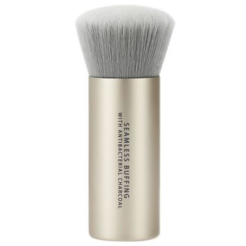 Seamless Buffing Brush with Antibacterial Charcoal. Foundation Makeup Brush