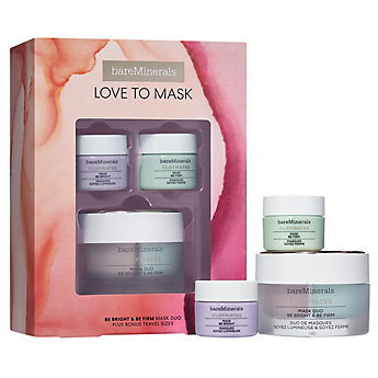 LOVE TO MASK: Be Bright & Be Firm CLAYMATES Mask Duo Plus Bonus-Travel Sizes