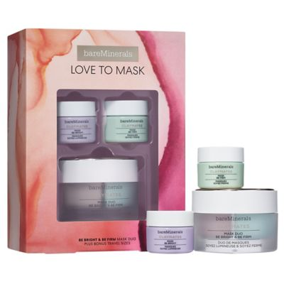 thumbnail imageLOVE TO MASK: Be Bright & Be Firm CLAYMATES Mask Duo Plus Bonus-Travel Sizes