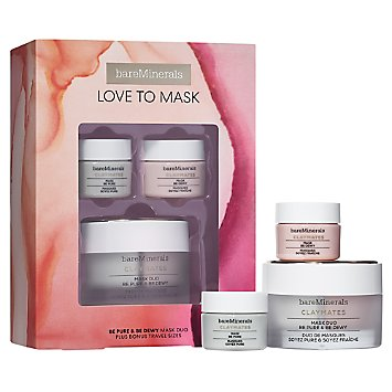 LOVE TO MASK: Be Pure & Be Dewy CLAYMATES Mask Set