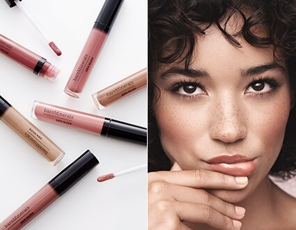 Image of Gen Nude® Patent Lip Lacquer and model