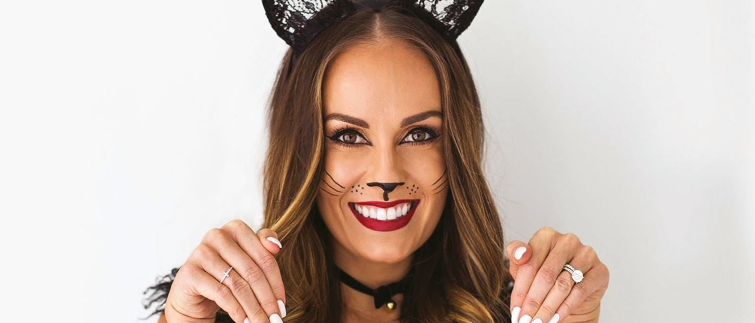 cute cat halloween makeup tutorial