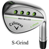 Mack Daddy 3 Milled Chrome Wedge with Steel Shaft