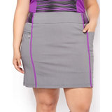 Women's Plus Size Twill Stretch Pull On Skort