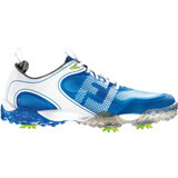 Men's Freestyle Spiked Golf Shoe - White/Electric Blue