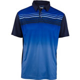 Men's Front Ombre Print Short Sleeve Polo