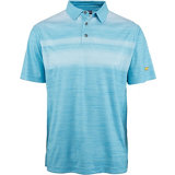 Men's Fading Front Panel Short Sleeve Polo