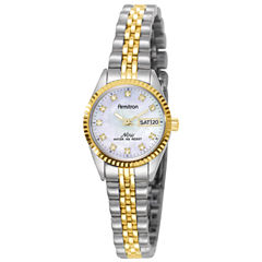 Armitron® Womens Two-Tone Mother-of-Pearl Watch