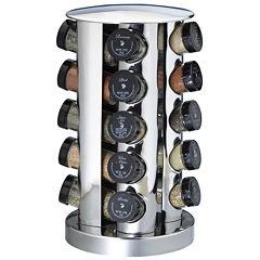 Kamenstein 20-Jar Stainless Steel Spice Rack