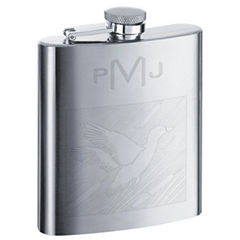 Engravable Stainless Steel Sports Theme Flask