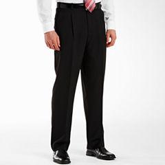 Adolfo® Pleated Black Striped Suit Pants
