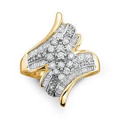 Diamond Ring 3/4 CT. T.W. 10K Gold