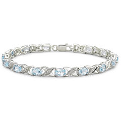 Genuine Blue Topaz and Diamond-Accent Bracelet