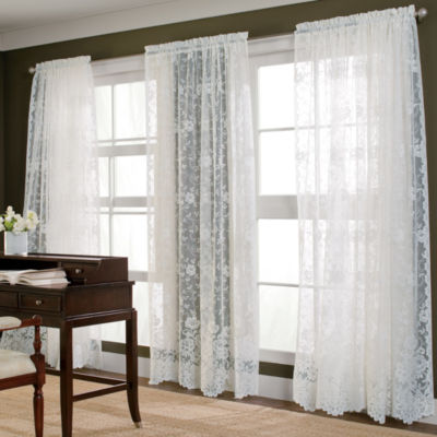 jcpenney home shari lace rodpocket sheer panel - Window Sheers