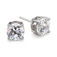 DiamonArt® Cubic Zirconia Silver Stud Earrings