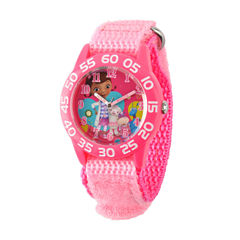 Disney DC Comics Girls Pink Strap Watch-W001685