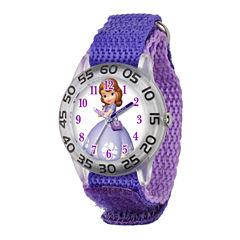 Disney Sofia The First Girls Purple Strap Watch-W001688