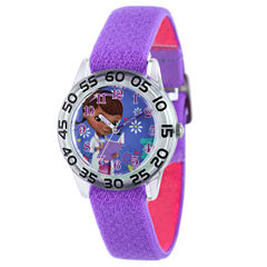 Disney DC Comics Girls Purple Strap Watch-W001955