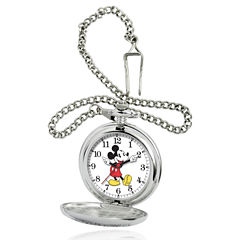 Disney Mickey Mouse Mens Pocket Watch-56403-3467