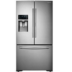 Samsung ENERGY STAR® 23 cu. ft. 3-Door French Door Refrigerator with Food Showcase Design Counter Depth