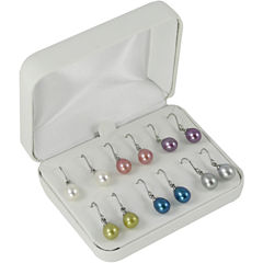6-Pair Color Cultured Freshwater Pearl Earring Set