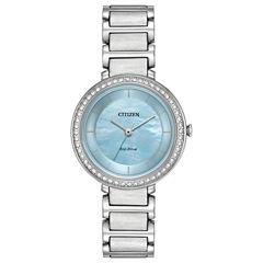 Citizen Womens Silver Tone Bracelet Watch-Em0480-52n