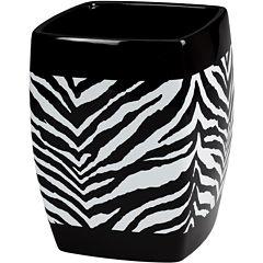 Creative Bath™ Zebra Wastebasket