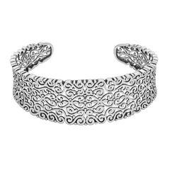 Sterling Silver Filigree Cuff Bracelet