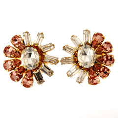 Oval Multi Color Stud Earrings