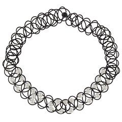 City Streets Womens White Choker Necklace