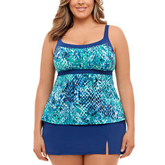 St. John's Bay Muted Reptile Faux Skirtini