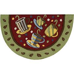 Nourison® Coffee Mugs Red Washable Wedge Rug