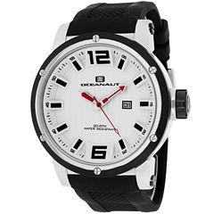 Oceanaut Mens Black Strap Watch-Oc2110